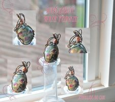 Ruby Zoisite Wrap Pendant by tanyquil