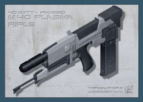 Terminator Plasma Rifle 3D by Paul-Muad-Dib