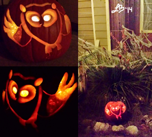 CosmicOwl Pumpkin Carving by SuperLinZ