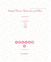 Free Journal Skin : Simple Flowers by Sukiie