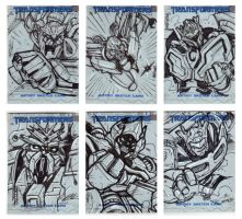 Transformers Movie sketchcards by MarceloMatere