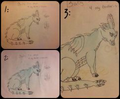 baby Dragon collage by JahiChan