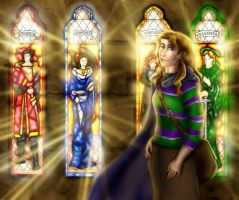 Stained Glass Founders by priscellie