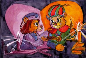 Xmas09: By the candlelight by BEAR2041