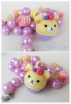 Rilakkuma inspired cupcake candy necklace by decoland