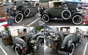 Four views of 31 Ford Cabriolet by trivto
