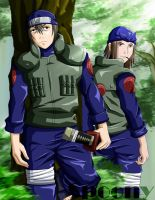 Hayate and Genma by FA-Spoony