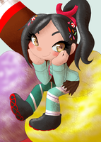 Vanellope - That Brat with Dirty Hair by kagomeamichun