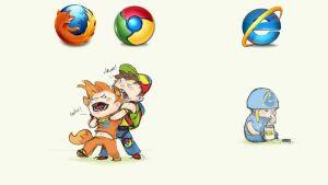 Chrome Vs Firefox Vs Gluey IE by SmileOnSpeedDial