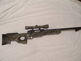 ATACS camo paint on L96 sniper by moose-lee