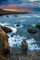 Garrapata Sunset by StevenDavisPhoto