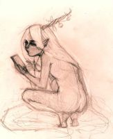 Creature in the Woods using a smartphone by jeeyoonna