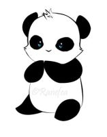 Panda Sticker by Ranefea