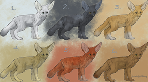 Fennec Foxes Adoptables by xNightxx
