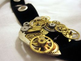 Steampunk holey choker by Gothic-Enchantress