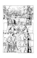 Knife and Shield pg 2 inks by Inker-guy
