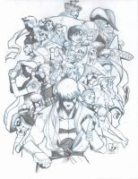Team Capcom Pencils by arsenalgearxx