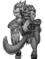 Vegeta and Cassidy Commission by TicoDrawing