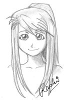 Winry by fuzzypinkmonster