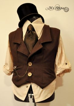 steampunk costume for man by myoppa-creation