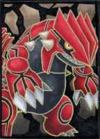 Groudon EX ACEO by SabrieI