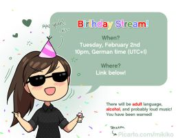 Birthday Stream! (Feb 2nd) by Zombiesmile