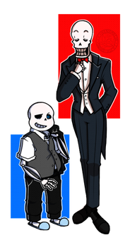 Skeletons in Suits by Solar-Deity