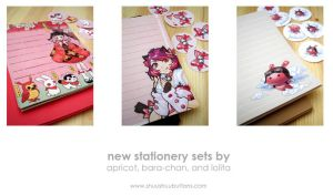 New Stationery Sets by shuushuu