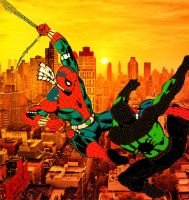 Unstoppable Spider-Man vs Tech Wars Spider-Man by stick-man-11