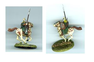 Rider of Rohan miniature by marienoire