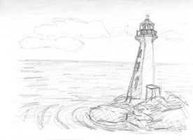 lighthouse by Sarippus