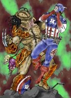 avengers vs predator -colour by Naitvalis