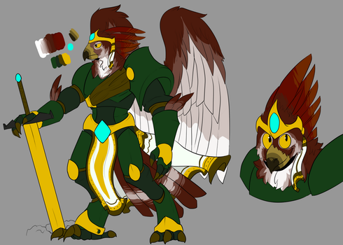 Character Creation Comm - Bird Paladin by LulzyRobot