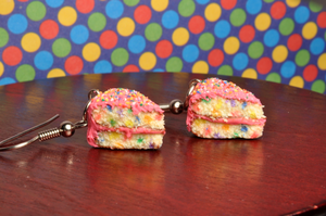 Scented Confetti Cake Earrings by rottingteeth