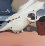 Cow Skull Still-Life by Reyna-Love