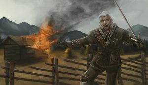Geralt - Witcher fanart by siksix