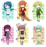 [Closed] Random adopts #5 by riz-cake-adopts