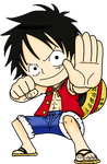 Luffy Lineart coloring practice by Link-Pikachu
