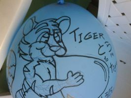 Tiger blows balloon 01 by gato303co