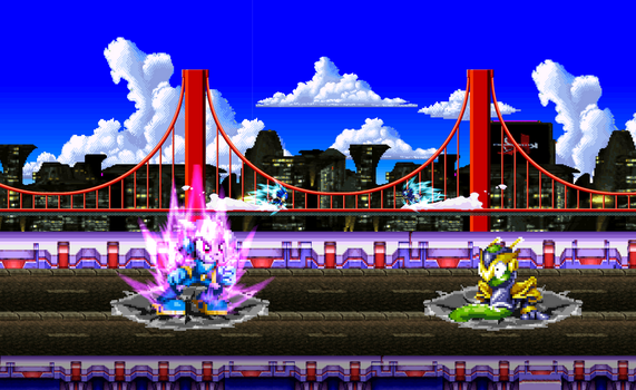 Sonic and Lilac VS Metal Sonic and Serpentine. by DrizzlyScroll1996