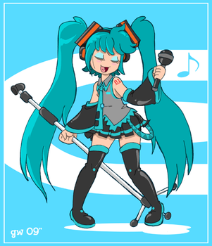 Miku. by GreenWiggly