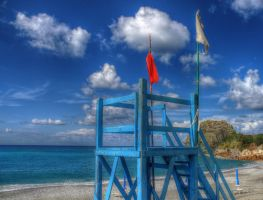 The lifeguard station - HDR by yoctox