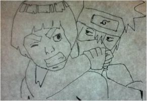 Kakashi vs Guy part 1 by chely27