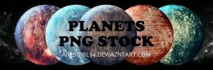 Planets PNGs by aresgirl34