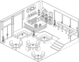 Cafe Outline by Paxjah