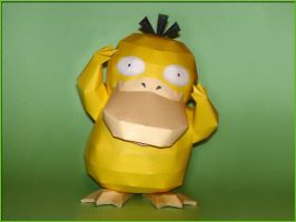 Psyduck Papercraft V3 by Skele-kitty