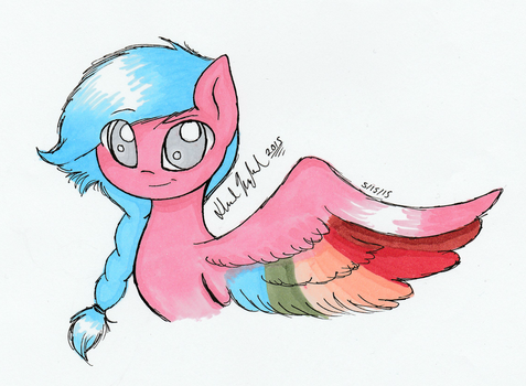 Symphony Dasher Concept Art by FeatherWishMLP