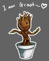 I am chibi dancing groot by fluffyducky-plushie