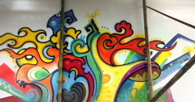 mural painting-Visky center by HiepHD