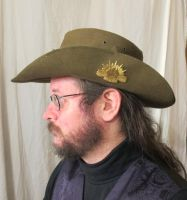 Aussie Hat with Blue Leather and Copper Hatband 3a by Windthin